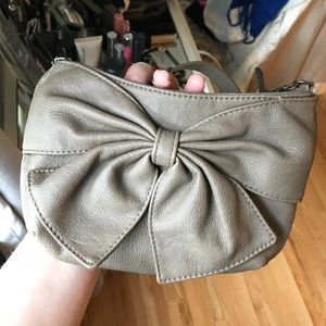 Express Tan Leather Bow Bag